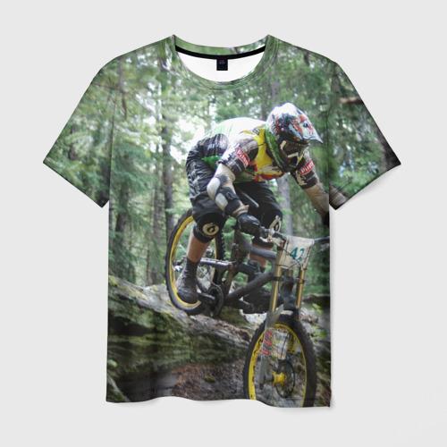Мужская футболка 3D Велоспорт гонка