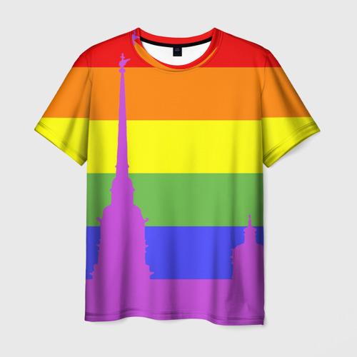 Мужская футболка 3D Радужный флаг