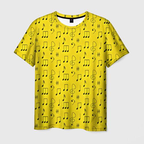 Мужская футболка 3D Ноты