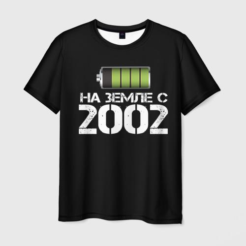 Мужская футболка 3D На земле с 2002