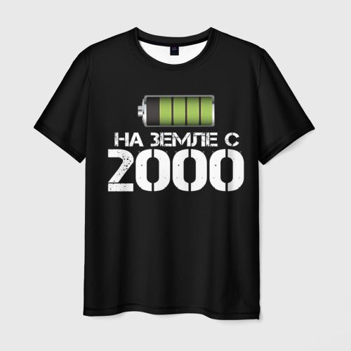 Мужская футболка 3D На земле с 2000