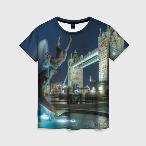 Женская футболка 3D England (Англия)