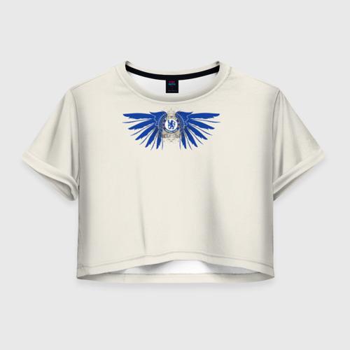 Женская футболка Crop-top 3D Chelsea FC