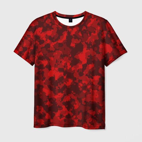 Мужская футболка 3D Красный камуфляж