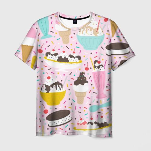 Мужская футболка 3D Ice Cream