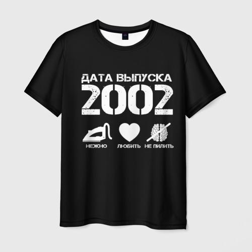 Мужская футболка 3D Дата выпуска 2002