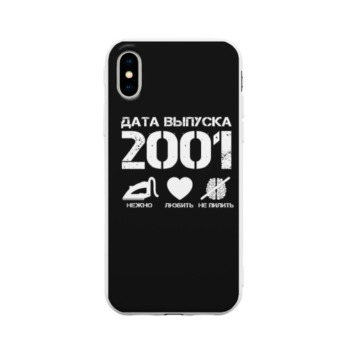 Чехол для iPhone X матовый Дата выпуска 2001