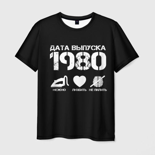 Мужская футболка 3D Дата выпуска 1980