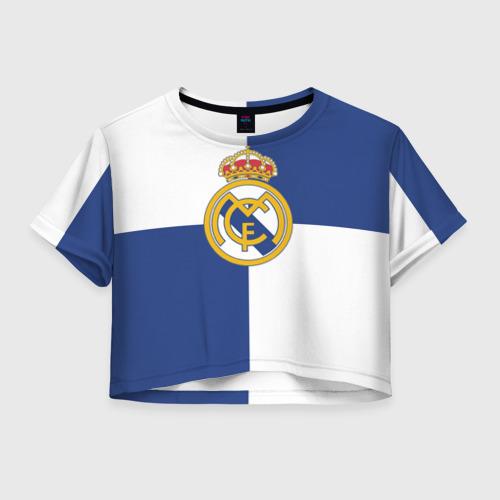 Женская футболка Crop-top 3D Real Madrid №1!