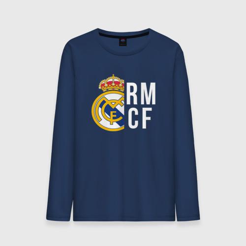 Мужской лонгслив хлопок Real Madrid - RM/CF (Classic)