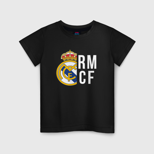 Детская футболка хлопок Real Madrid - RM/CF (Classic)