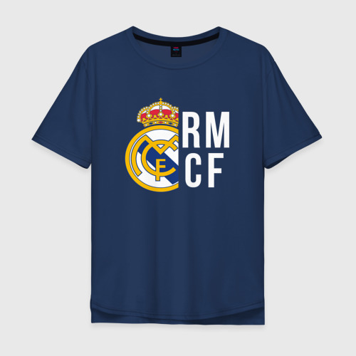Мужская футболка хлопок Oversize Real Madrid - RM/CF (Classic)