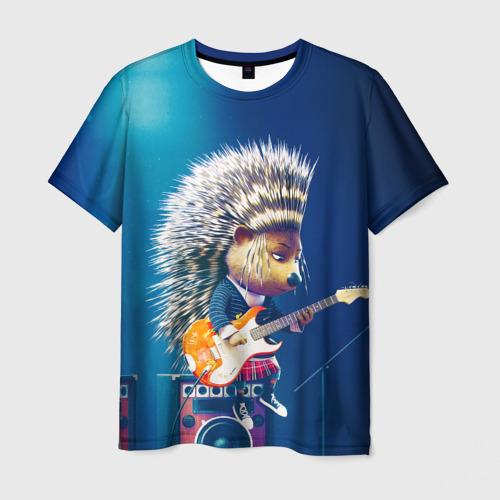 Мужская футболка 3D Животный рок