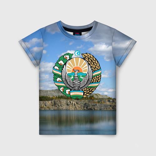 Детская футболка 3D Узбекистан
