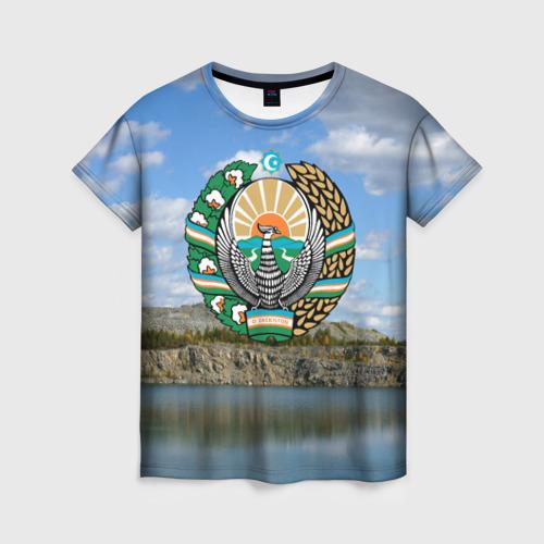 Женская футболка 3D Узбекистан