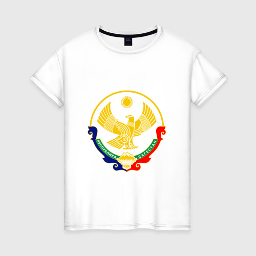 Женская футболка хлопок Герб Дагестана
