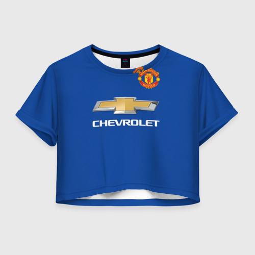 Женская футболка Crop-top 3D MU (выездная) форма Ибрагимович
