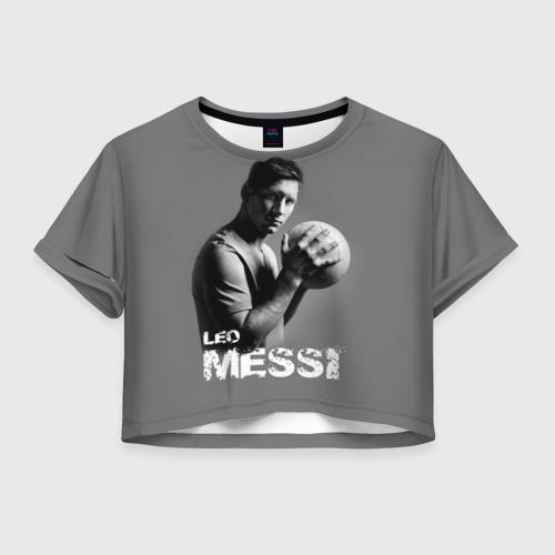 Женская футболка Crop-top 3D Leo Messi