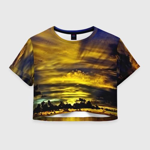 Женская футболка Crop-top 3D Мальдивы