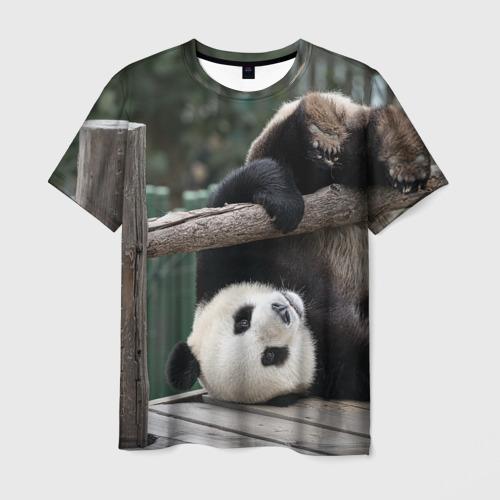 Мужская футболка 3D Паркур панда