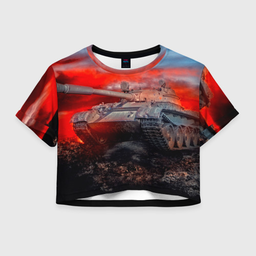 Женская футболка Crop-top 3D Tank