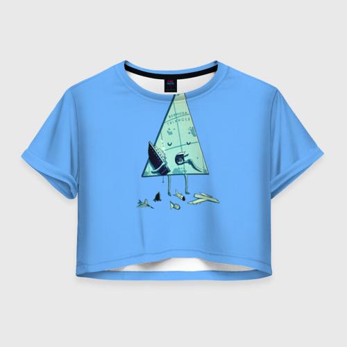 Женская футболка Crop-top 3D Бермудские острова
