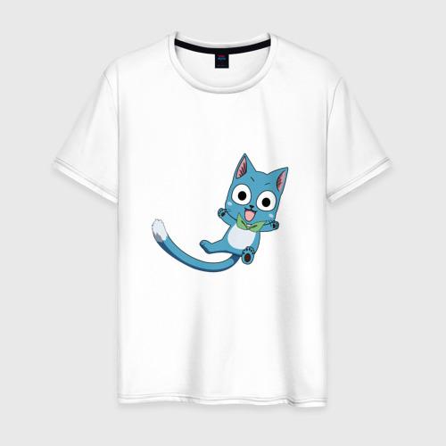 Мужская футболка хлопок Кот Хэппи