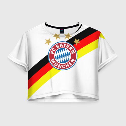 Женская футболка Crop-top 3D ФК Бавария