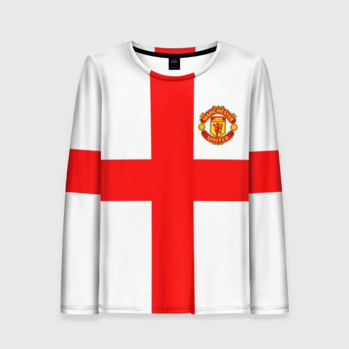 Женский лонгслив 3D Manchester united