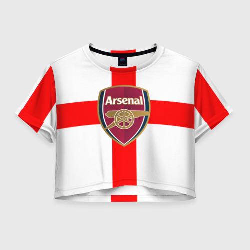 Женская футболка Crop-top 3D Арсенал