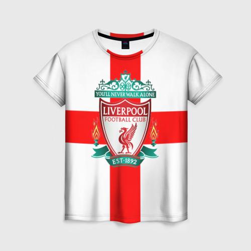 Женская футболка 3D Ливерпуль ФК