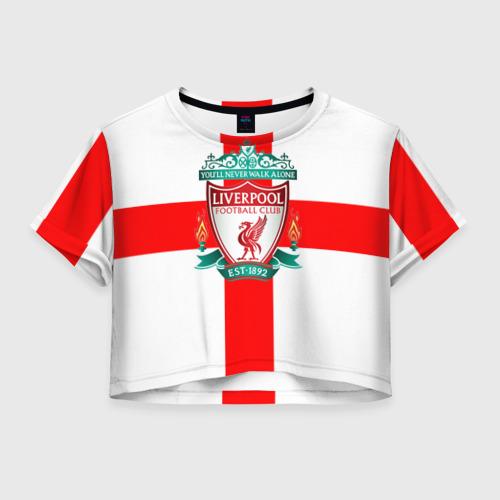 Женская футболка Crop-top 3D Ливерпуль ФК