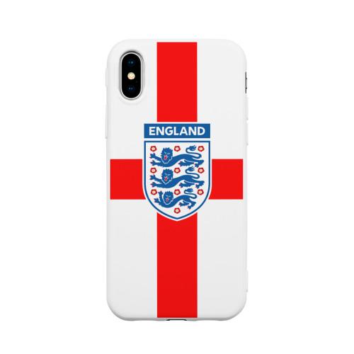 Чехол для iPhone X матовый Сборная Англии