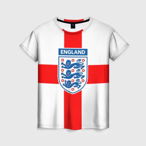 Женская футболка 3D Сборная Англии