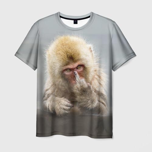 Мужская футболка 3D Японская макака