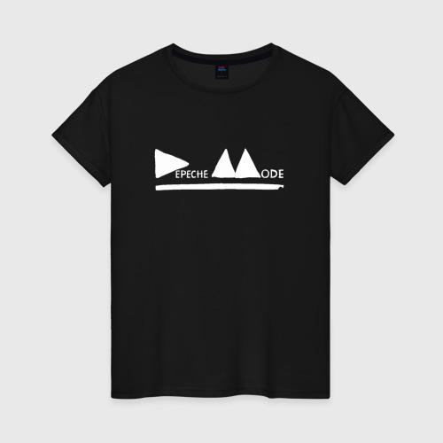 Женская футболка хлопок Depeche mode (white)