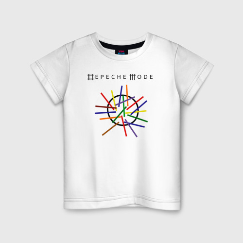 Детская футболка хлопок Depeche mode (светлая)