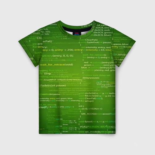 Детская футболка 3D technology code