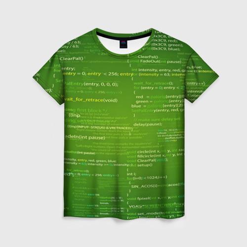 Женская футболка 3D technology code