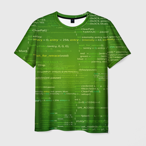 Мужская футболка 3D technology code