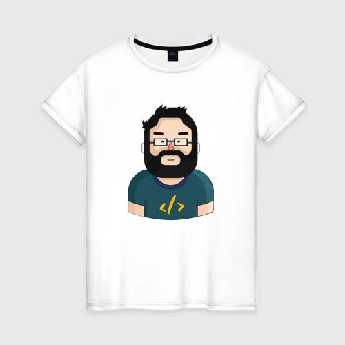 Женская футболка хлопок Codefest`17_3