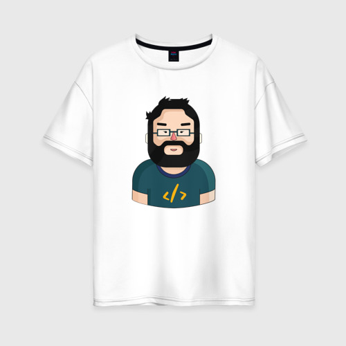 Женская футболка хлопок Oversize Codefest`17_3