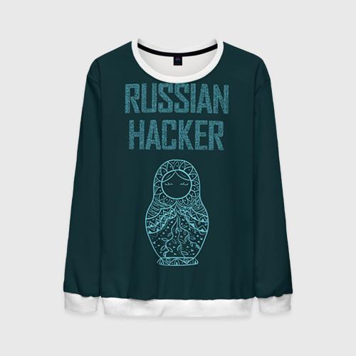 Мужской свитшот 3D Русский хакер