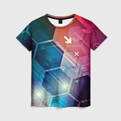 Женская футболка 3D Hi-tech