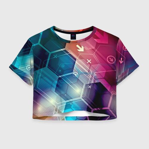 Женская футболка Crop-top 3D Hi-tech