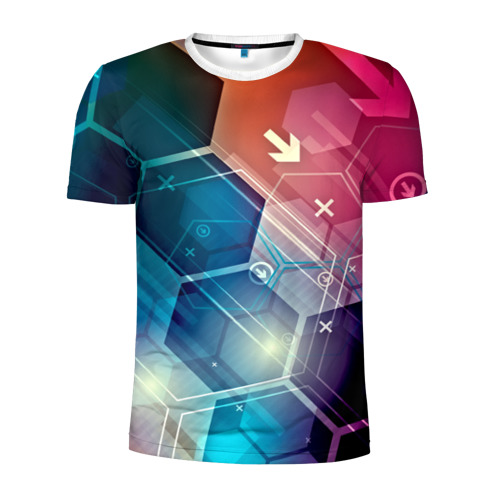 Мужская футболка 3D спортивная Hi-tech