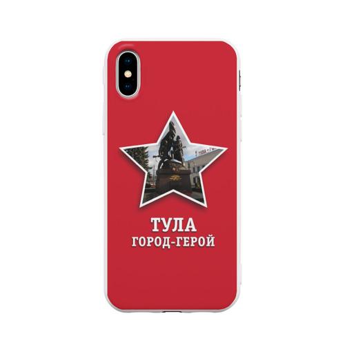 Чехол для iPhone X матовый Тула город-герой