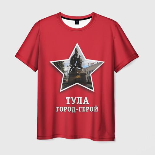 Мужская футболка 3D Тула город-герой