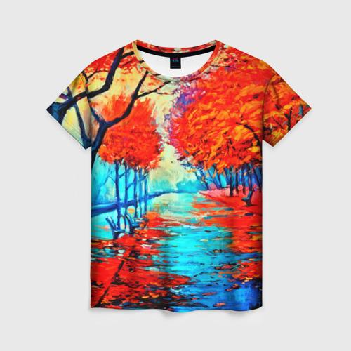 Женская футболка 3D Autumn