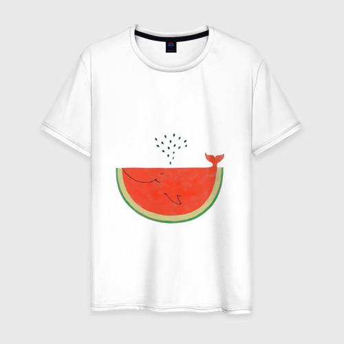 Мужская футболка хлопок Кит Арбуз